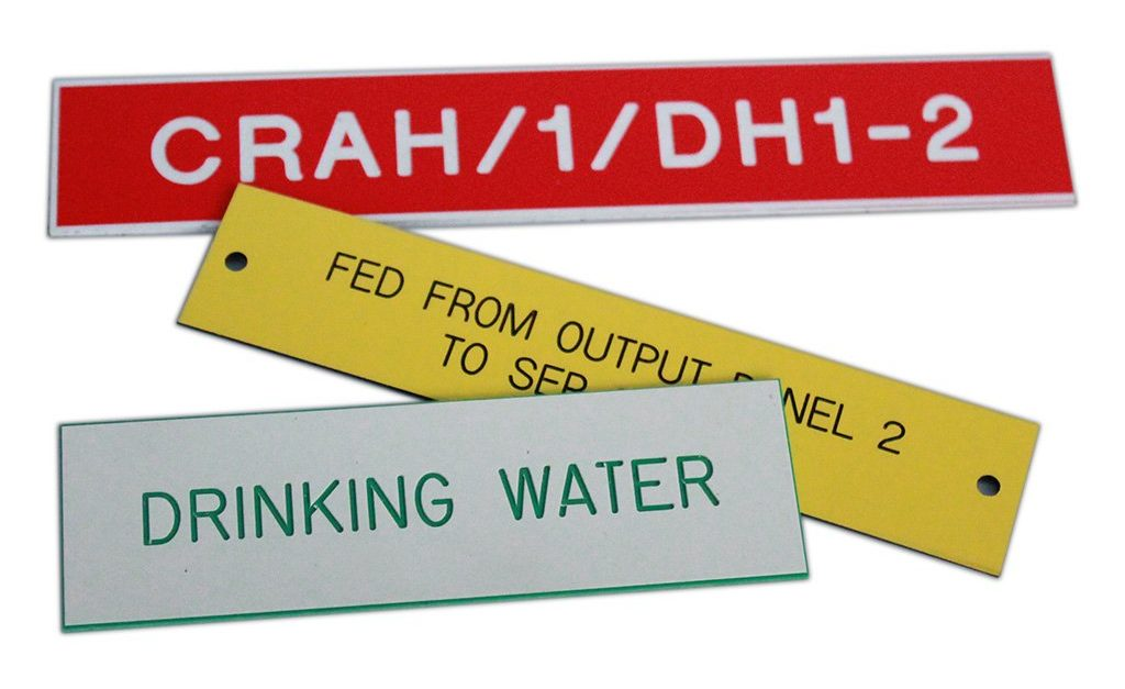 engraved signs, labels and labels