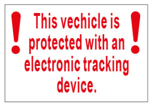 This Vehicle Is Protected...