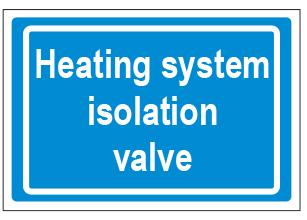 Heating System Isolation Valve