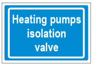 Heating Pumps Isolation Valve