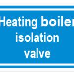Heating Boiler Isolation Valve