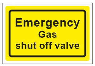 Emergency Gas Shut Off Valve