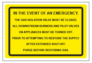 Gas In The Event Of An Emergency