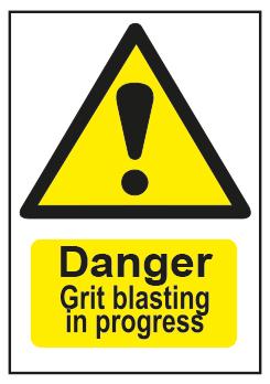 Danger Grit Blasting In Progress