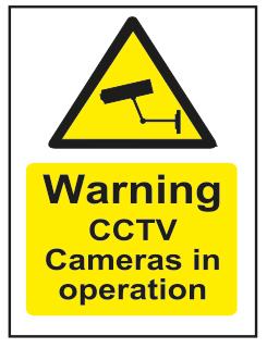 Warning CCTV Cameras In Operation