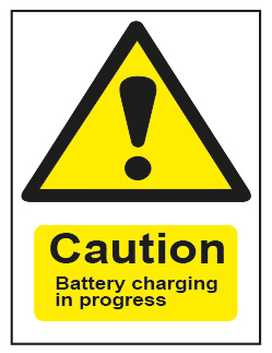 Caution Battery Charging In Progress