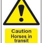 Caution Horses In Transit