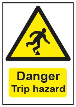 Danger Trip Hazard