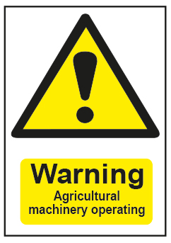 Warning Agricultural Machinery Operating