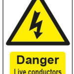 Danger Live Conductors