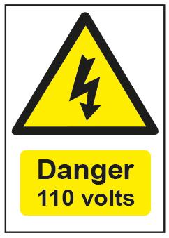 Danger 110 Volts