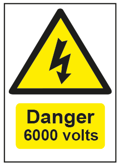 Danger 6000 Volts
