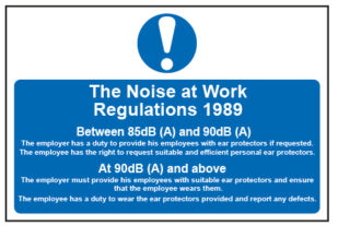 The Noise At Work Regulations 1989