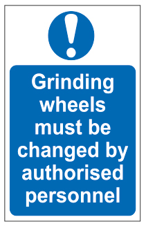 Grinding Wheels Must Be Changed By Personnel