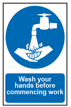 Wash Your Hands Before Commencing Work
