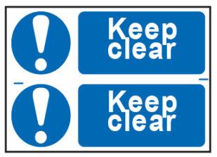 Keep Clear x2