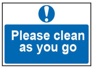 Please Clean As You Go