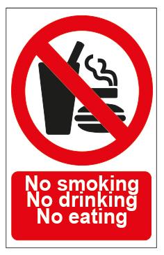 No Smoking No Drinking No Eating