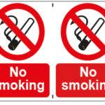 No Smoking x2