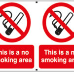 This Is A No Smoking Area x2