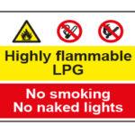 Highly flammable LPG / No smoking No naked lights