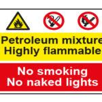 Petroleum mixture Highly flammable / No smoking No naked lights