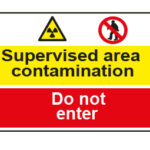 Supervised area contamination / Do not enter