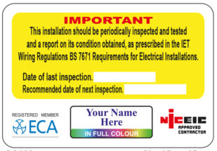 Full Colour Electrical Warning Labels